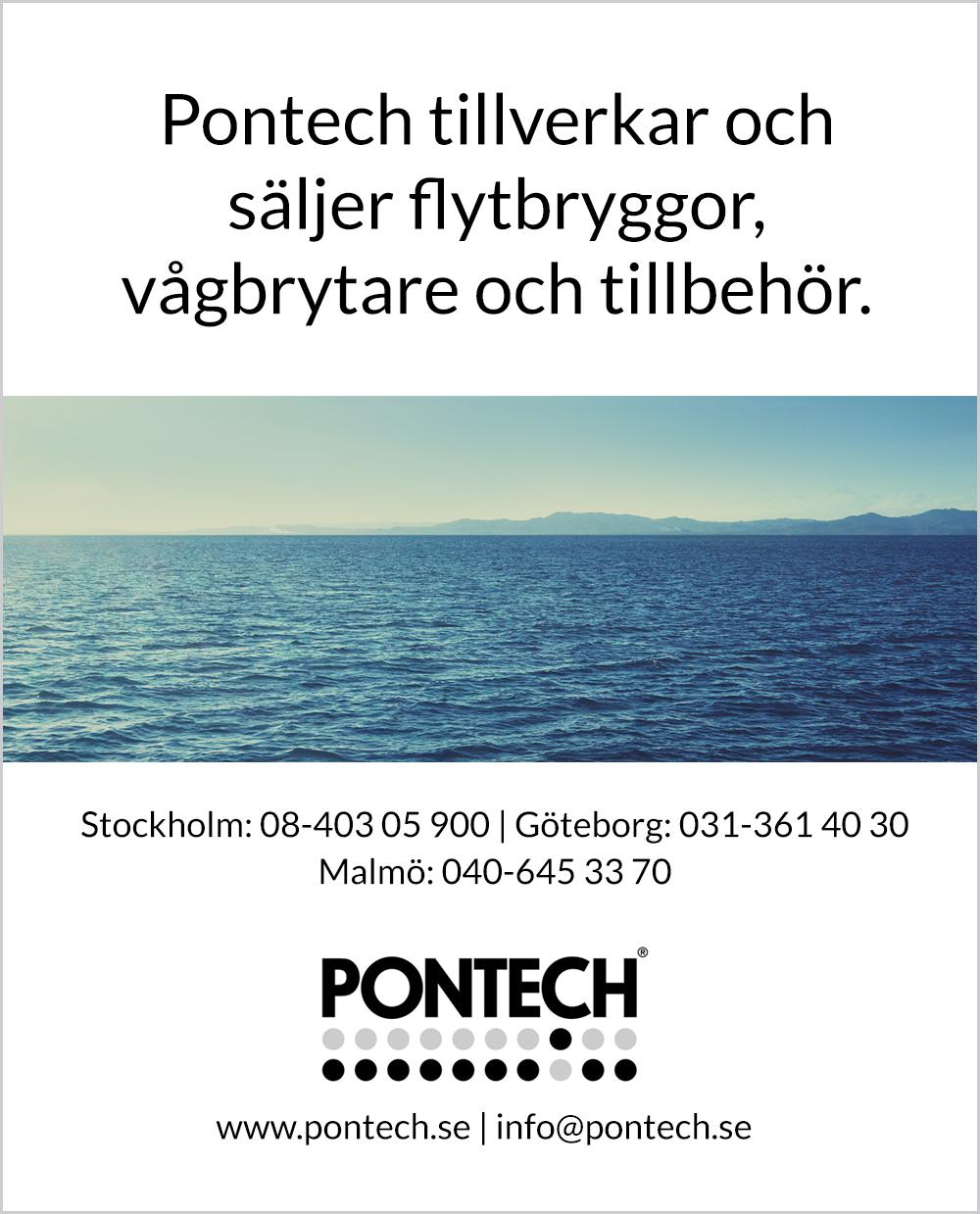Pontech - Väder i skärgården - Tillverkar och säljer flytbryggor, vågbrytare och tillbehör.